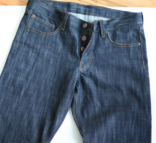streaky cone selvedge denim