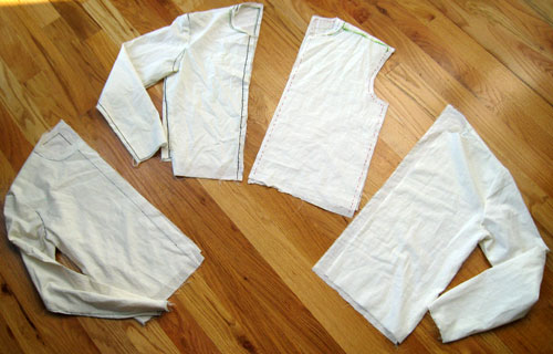Men's sloper test fit in muslin