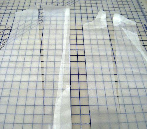Men's shirt sloper, spread to add ease