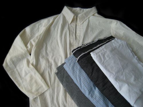 Practice muslin shirt and shirting fabric