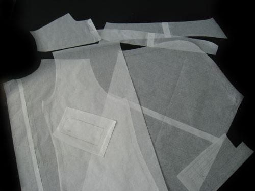 Men's shirt pattern pieces