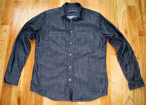charcoal chambray shirt