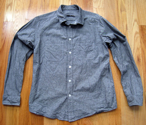 gray chambray shirt