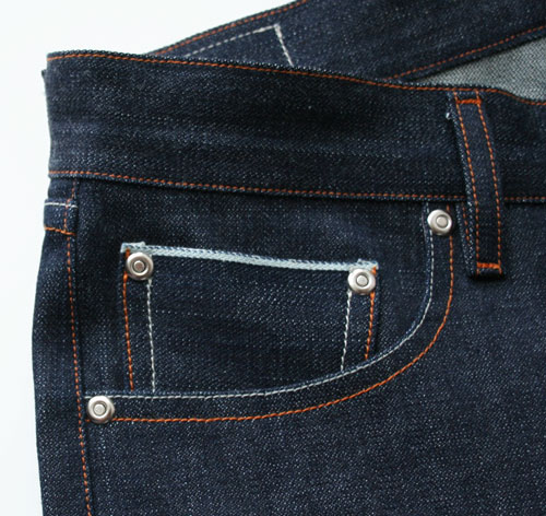 selvedge coin pocket