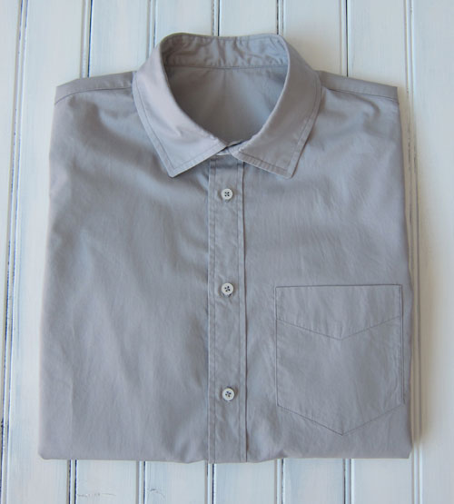 light gray Pima cotton men's shirt
