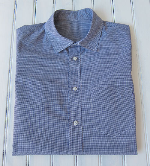 small check gingham men's shirt