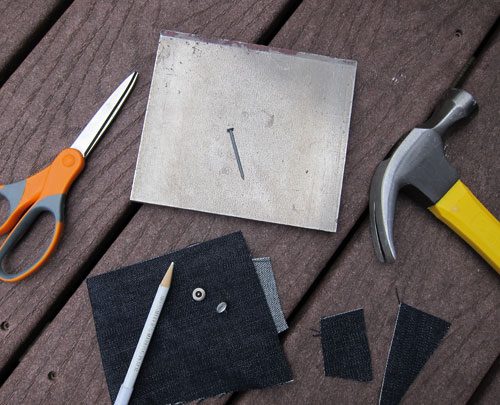 Tools for installing jeans rivets