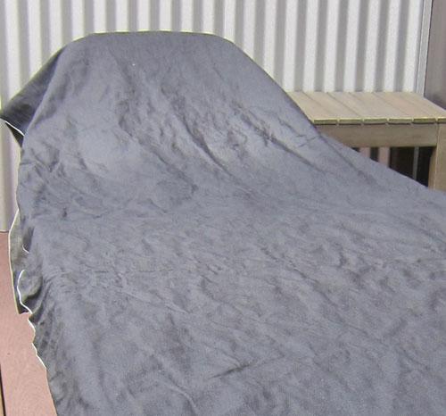 selvedge denim drying