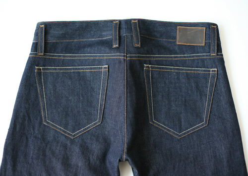 women's selvedge denim, back pockets