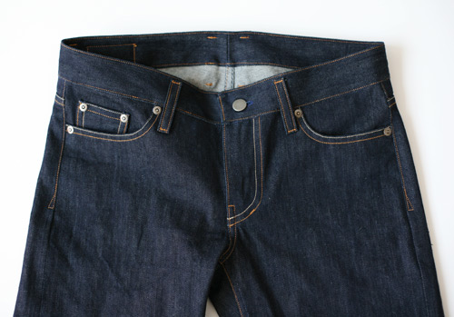 women's selvedge denim, front