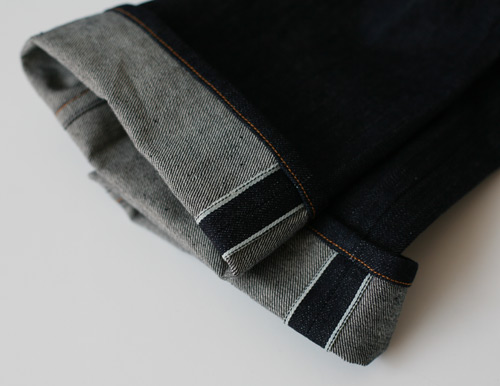 women's selvedge denim, cuffs