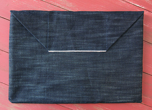 selvedge denim laptop sleeve