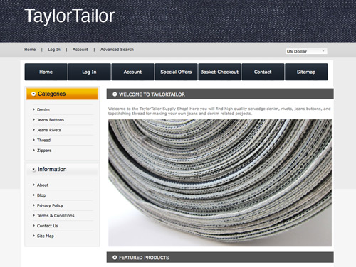 Supply Shop website image