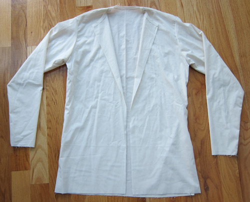 Mens jacket sloper test fit muslin