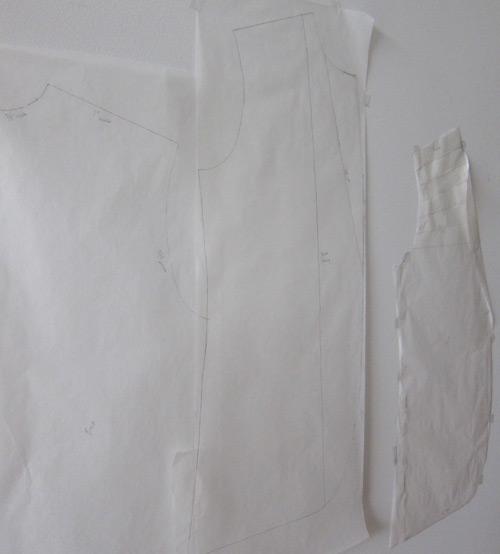Mens jacket pattern in progress