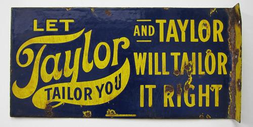 Taylor Tailor vintage sign
