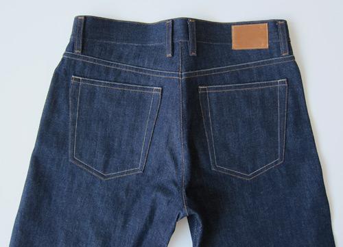 selvedge denim jeans back, yoke and pockets