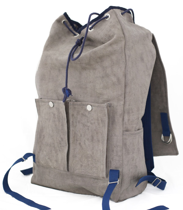 Waxed Canvas backpack, open