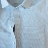 light gray gingham shirt