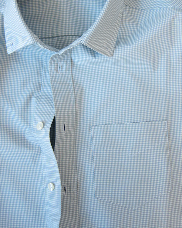light gray gingham shirt