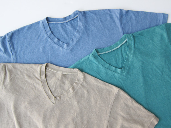 garment dyed v neck t shirts taylortailor
