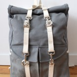 Roll Top Canvas Backpack, front