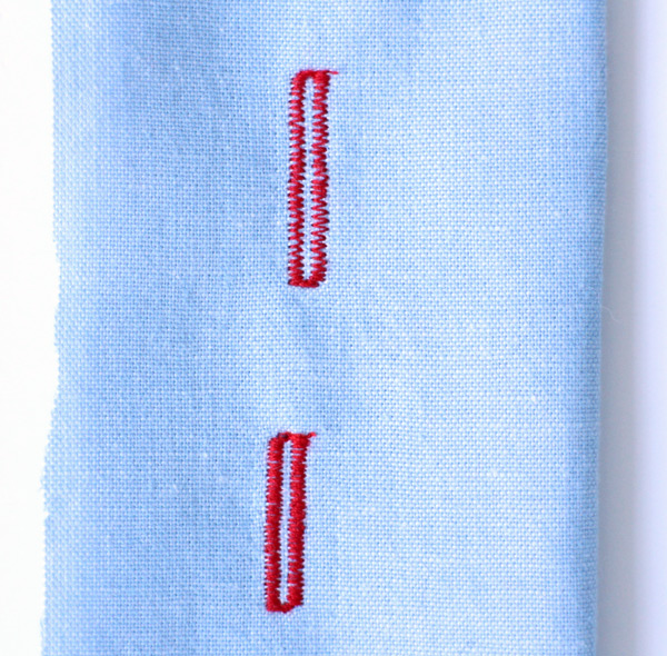 Industrial Buttonhole Attachment stitch spacing