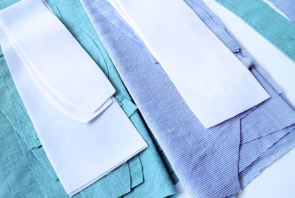 mens shirt fabric pieces