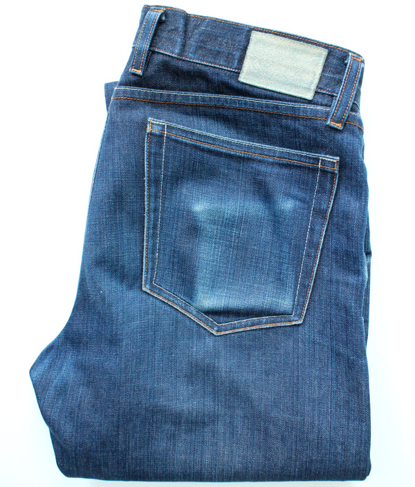 folded, broken in, worn, selvedge denim