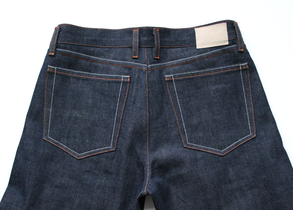raw, selvedge denim back