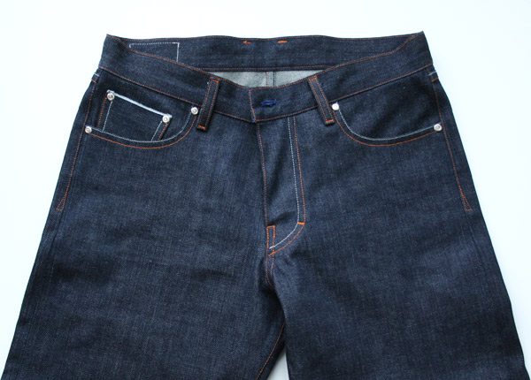 raw selvedge denim front