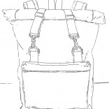 rolltop backpack sketch