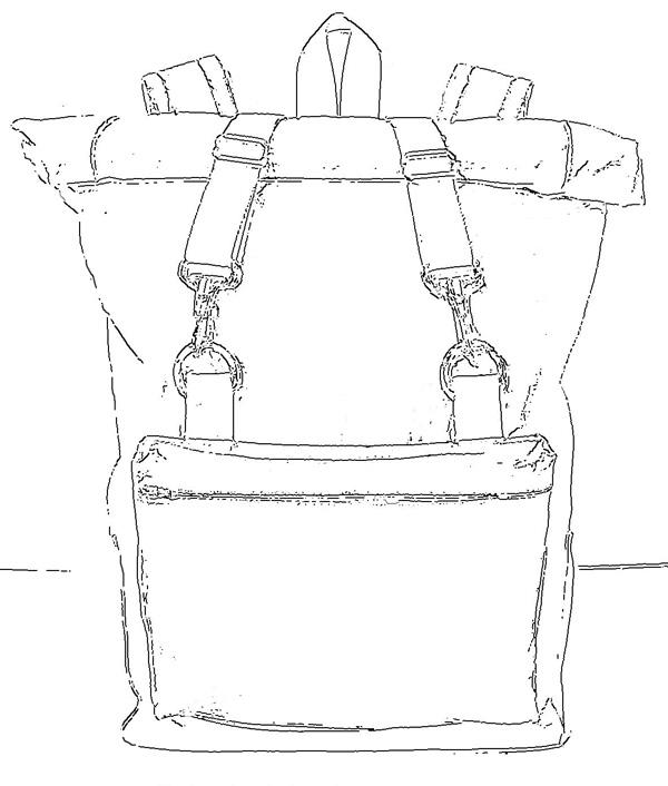 rolltop backpack sketch
