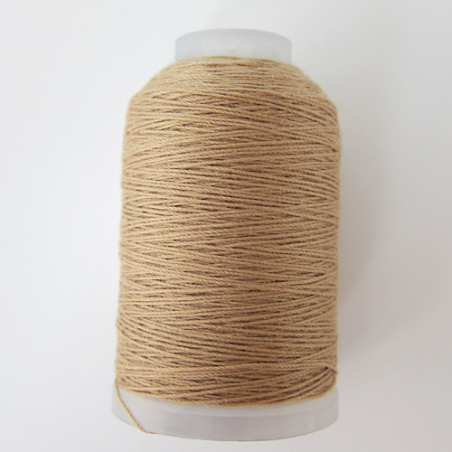beige topstitching thread