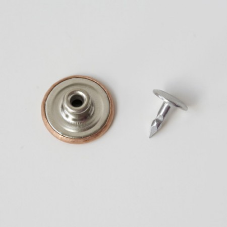 Copper jeans button