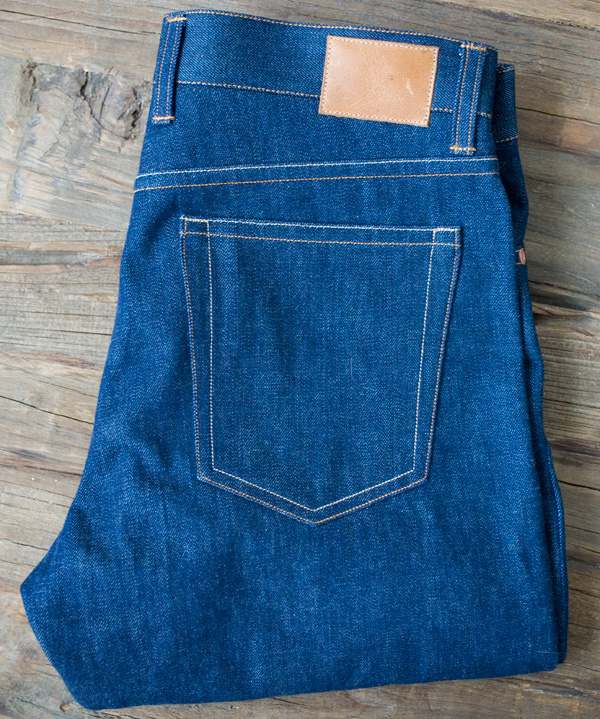 selvedge denim back folded