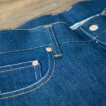 selvedge denim front close up