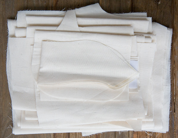 muslin jacket pieces