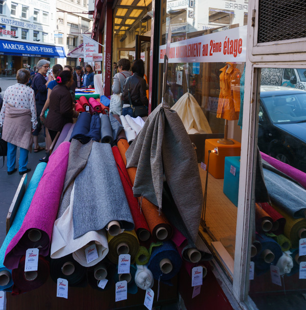 Fabric shopping, Montmartre