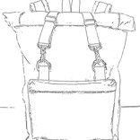 roll top backpack sketch