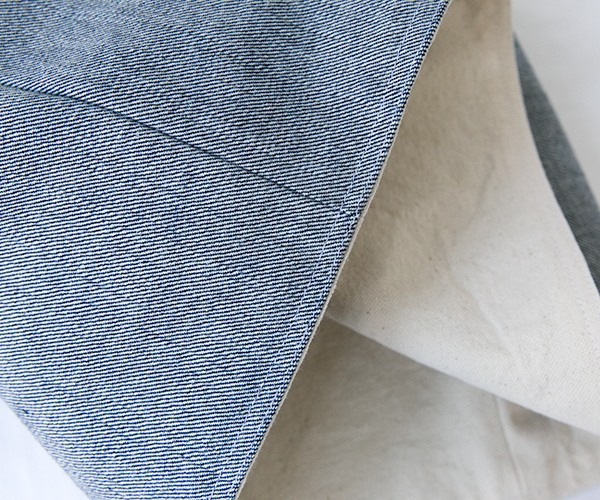exterior/lining top-stitch