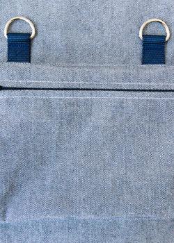 finished zipper pocket