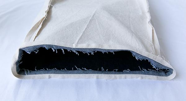 lining/exterior seam pressed open