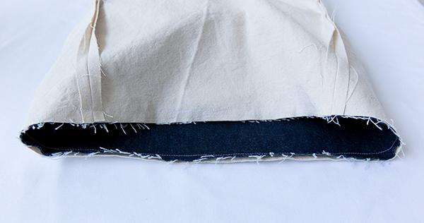 lining/exterior seam
