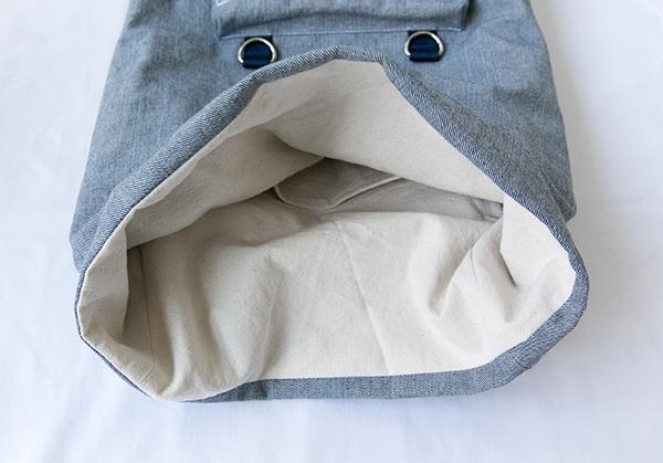 lining tucked inside
