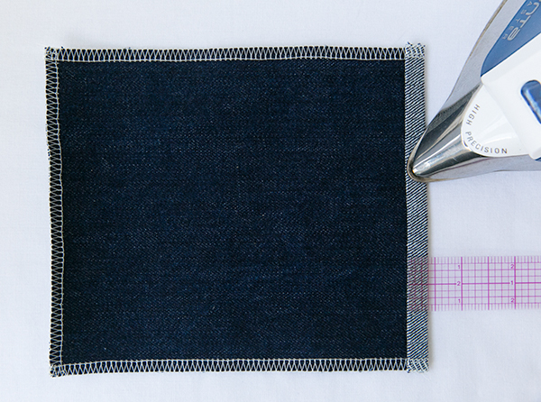 second step of pocket hem
