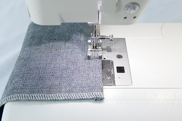 pocket top-stitch hem