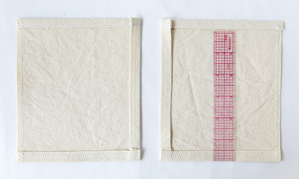 side pocket seam allowances pressed under