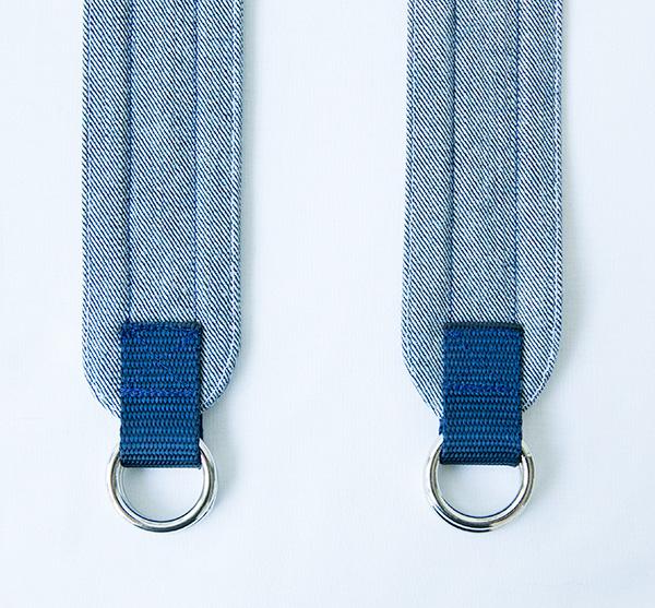 finished back of straps
