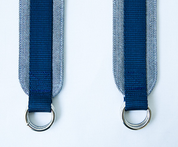 straps finished front sides